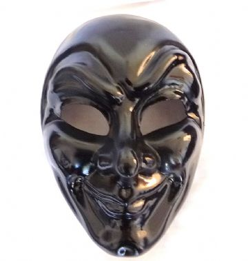 Genuine Venetian Black Joker Mask